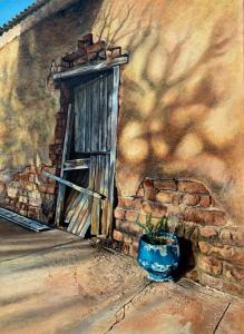 Art Of Entropy - Klein Karoo Blue Pot - Oil Painting