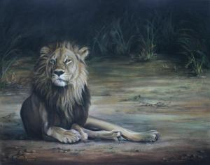 LION PASTEL ON CANVAS