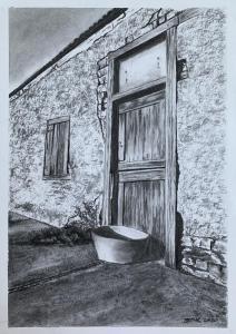 WALL DOOR AND TUB CHARCOAL