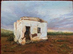 3 AUGUST OIL PAINTING DEMO PALETTE SHED
